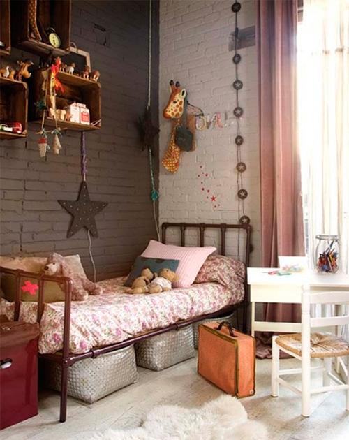 Детские кровати стиле лофт и зона отдыха