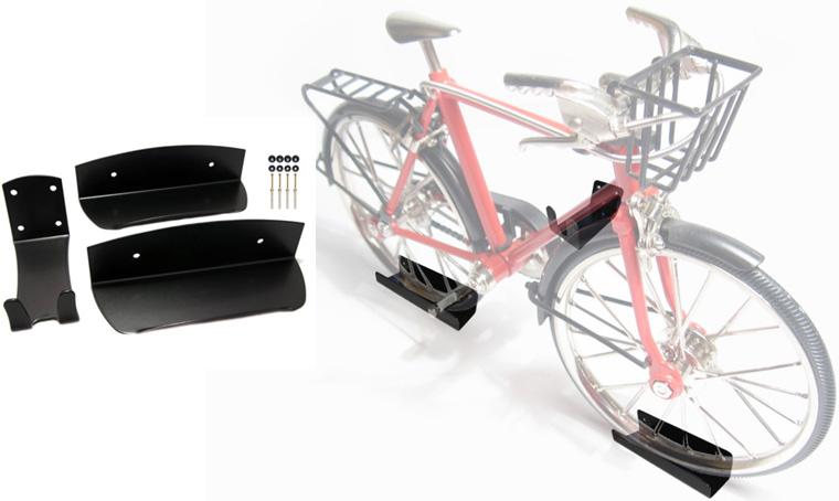 комбинированное крепление для хранения велосипеда на стене