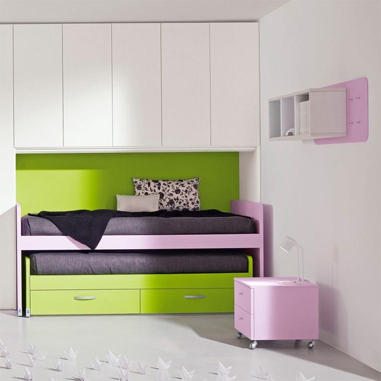 Детские выдвижные кровати для двоих детей, фото