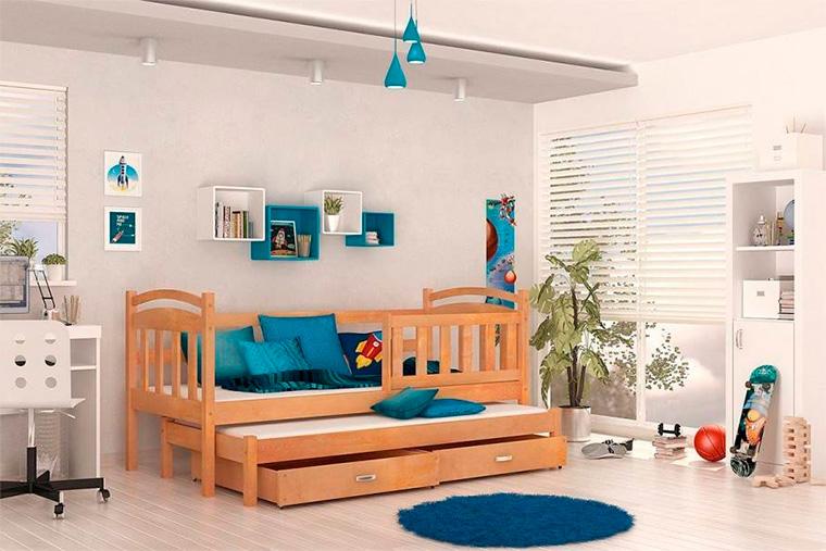 Детские кровати для двоих детей в классическом стиле