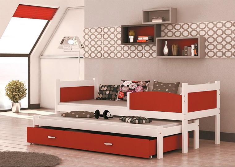 Выдвижные кровати для двоих детей в современном стиле