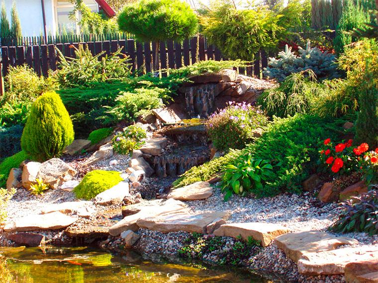 Композиции из натурального камня в ландшафтном дизайне