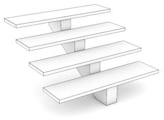 Модель с центральной балкой