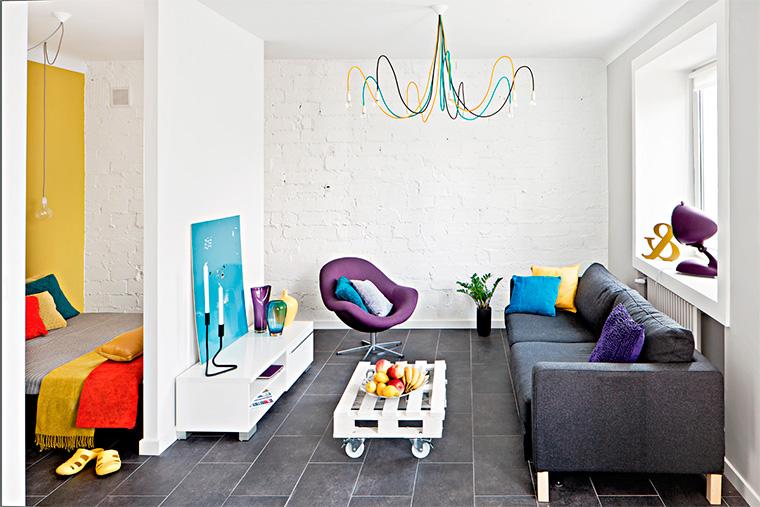 Как расставить мебель в однокомнатной квартире-студии?
