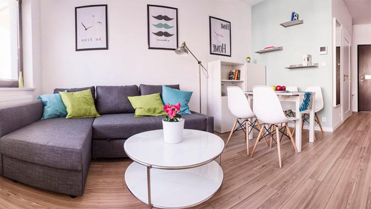 Маленькая однокомнатная квартира, как расставить мебель в студии 26-30 кв.м
