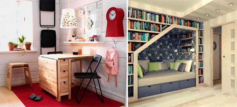 Уголок для школьника в однокомнатной квартире