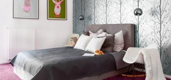 Современный дизайн обоев для спальни – комбинированные двух видов, 62 фото