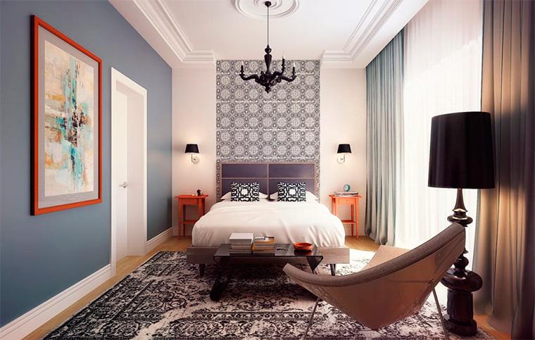 Классический дизайн обоев для спальни