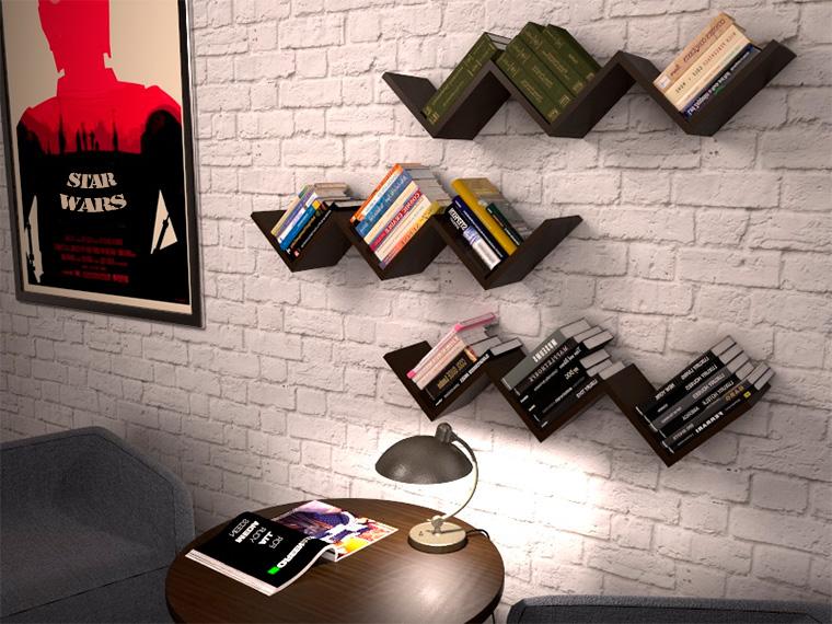 Полки настенные для книг