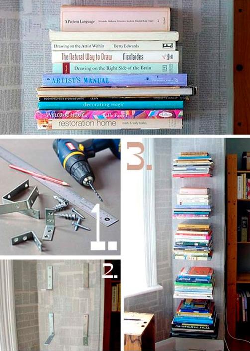 настенные полки для книг