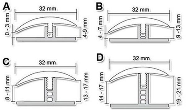 Гибкие порожки для ламината и плитки