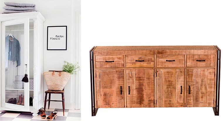 Комод и шкаф в прихожую в скандинавском стиле
