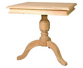 Квадратные столы на одной ноге