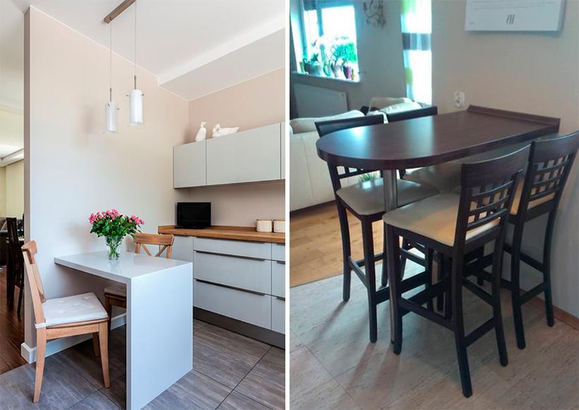 Стол на кухню на одной ноге своими руками