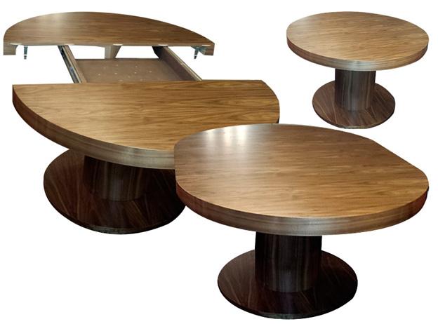 Стол кухонный круглый раздвижной на одной ножке – фото