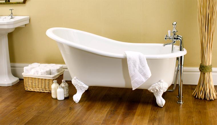 Ванна на ножках отдельностоящая