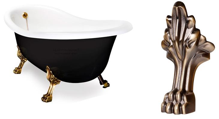 Ванна отдельностоящая на ножках в классическом стиле