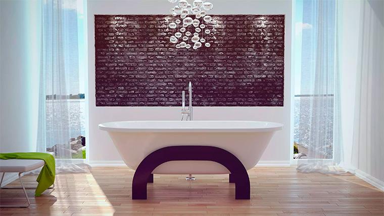 Ванны отдельностоящие на ножках в современном стиле