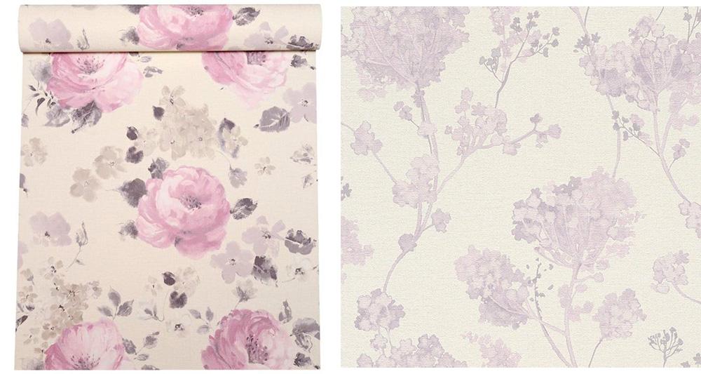 Обои в английском стиле в цветочек