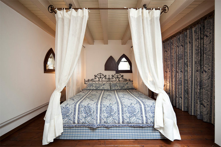 canopy over the bed