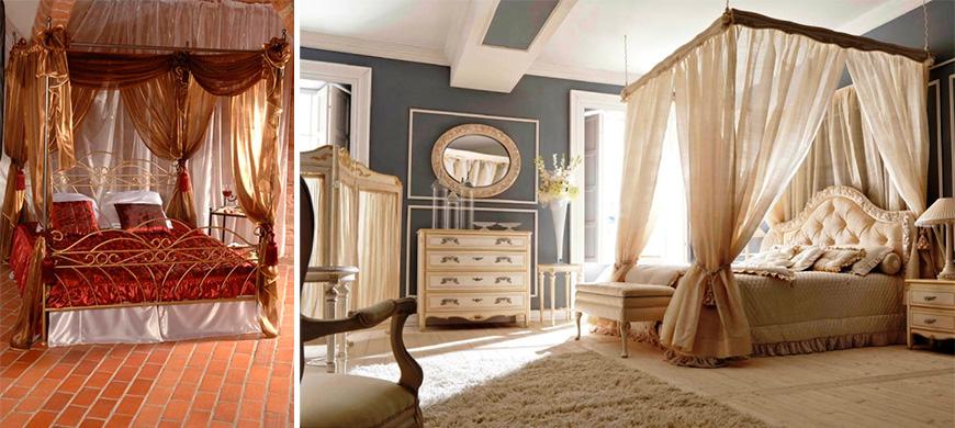Каркас для балдахина на взрослую кровать в классическом стиле