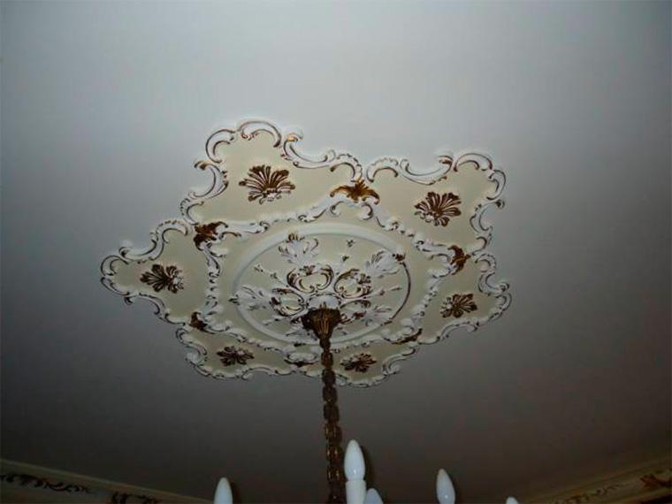 Потолок в стиле барокко в интерьере, фото