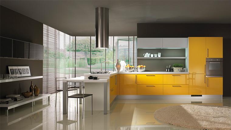 Farbe der Küche setzt Foto