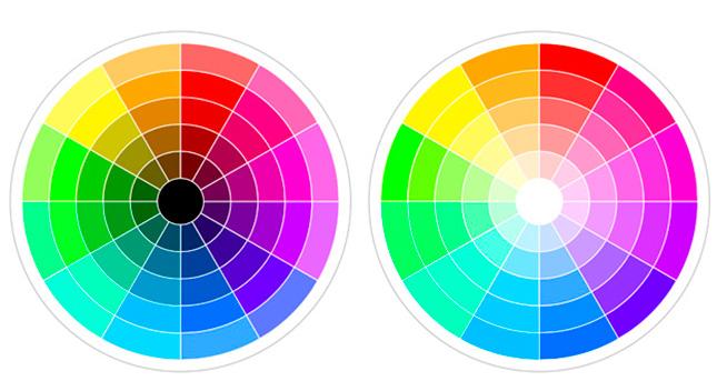 Сочетания разных цветов