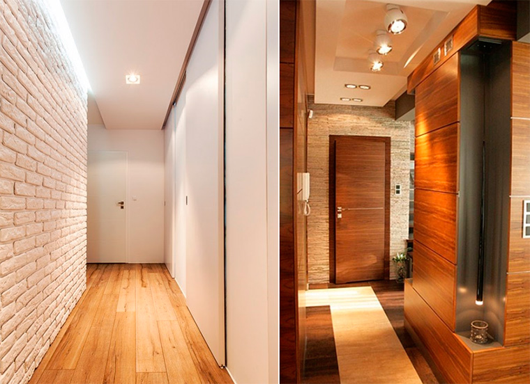 Отделка коридора в квартире панелями