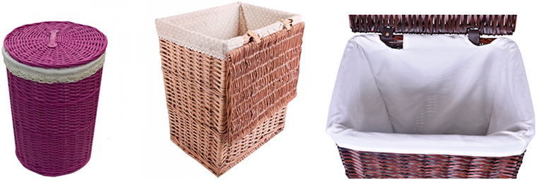 плетеные корзины для белья