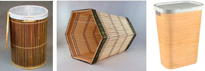 Корзина для белья из бамбука