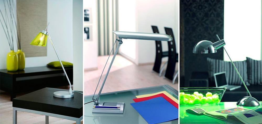 Форма и мобильность настольной лампы