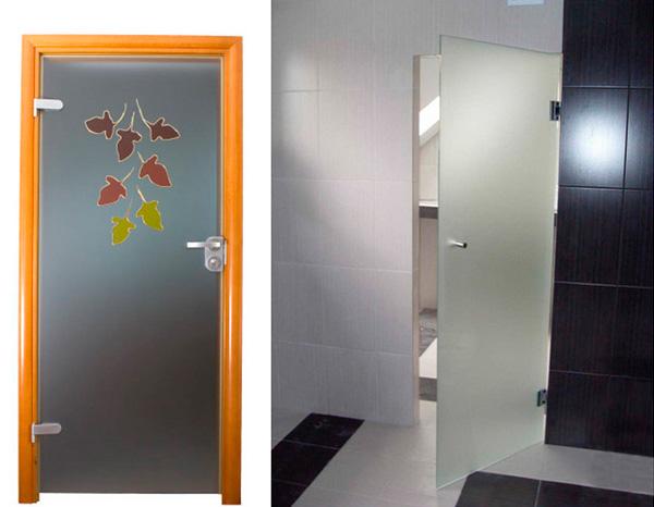 Стеклянные двери для ванной и туалета, фото
