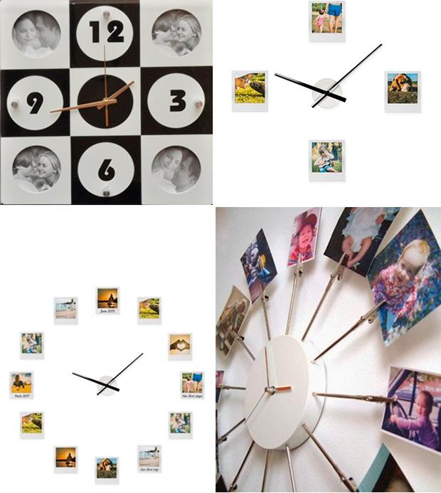 Часы с фоторамками