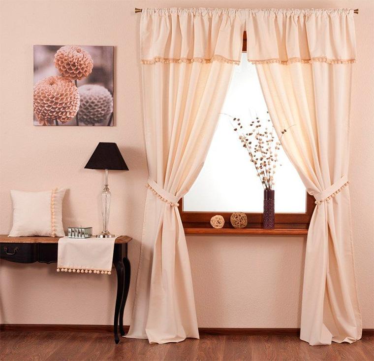 Дизайн штор для маленьких окон, фото