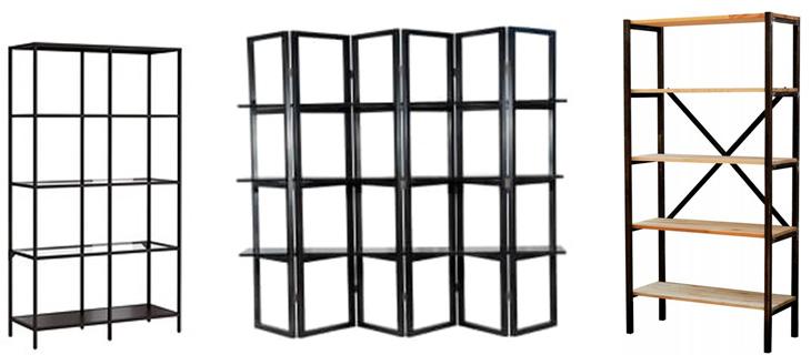 Стеллажи металлические для дома без задней стенки