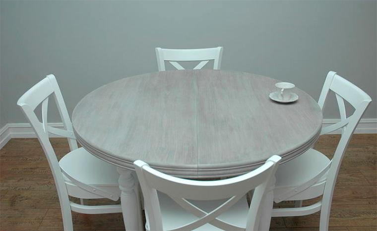 Овальный стол на кухню раздвижной в провансе