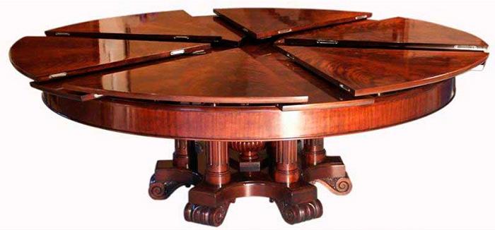 Стол обеденный овальный раздвижной