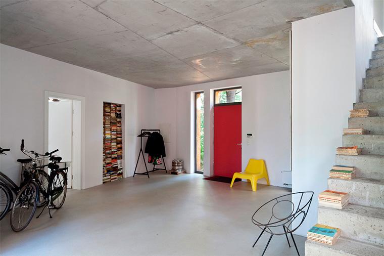 Бетонные потолки в интерьере – фото