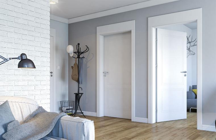 Классическая дверь для индустриального интерьера