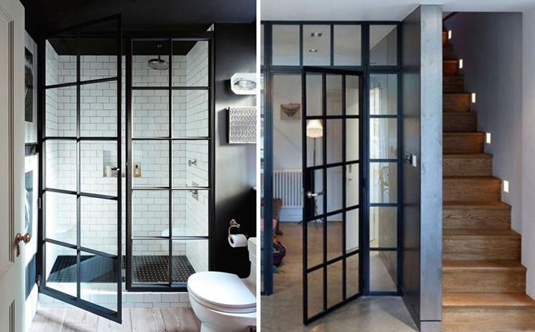 Входные и межкомнатные двери в стиле лофт, фото