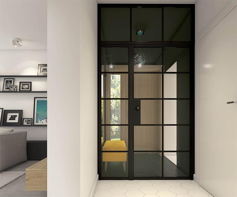 Двери в стиле лофт из метала и стекла
