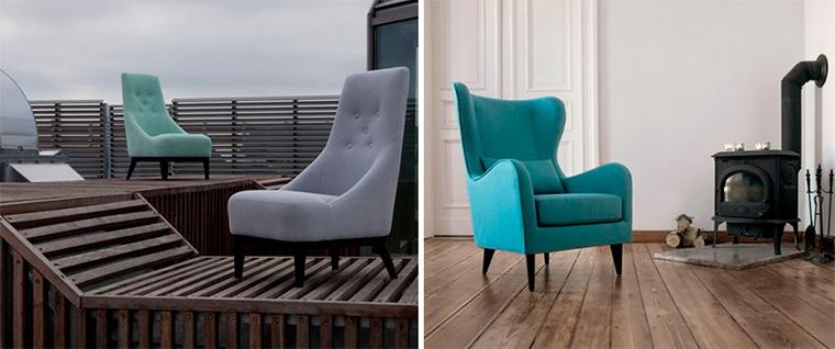 Кресла небольших размеров с высокой спинкой