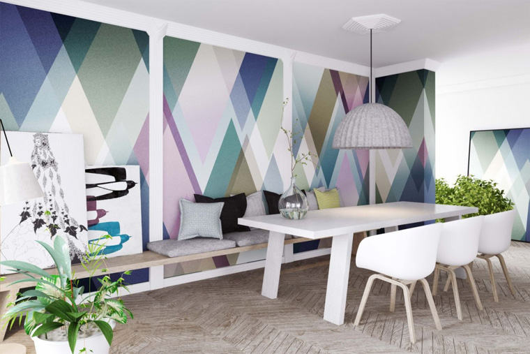 Применение молдингов на стенах в современных интерьерах