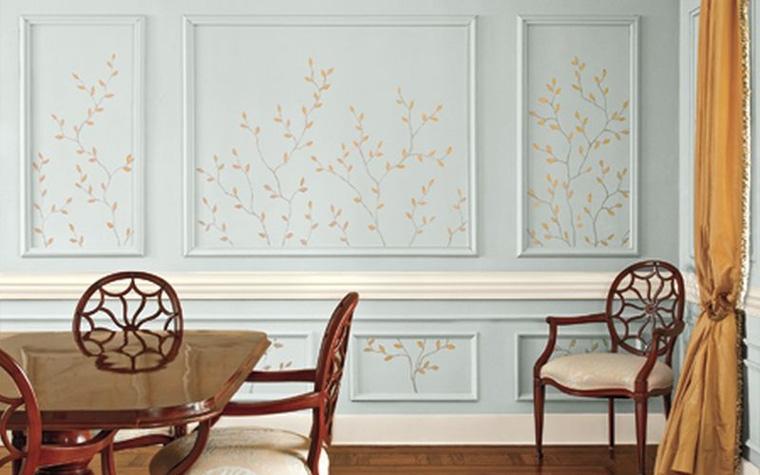 Стена с элементами декоративной живописи
