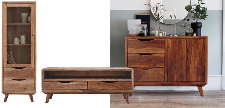 Мебельная стенка в стиле ретро