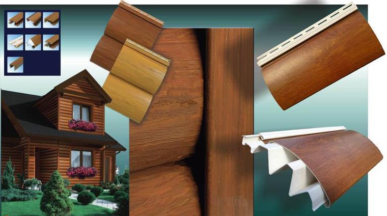 Фото. Виниловый сайдинг под бревно Timber Trend