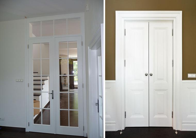 Двери распашные двустворчатые межкомнатные, фото