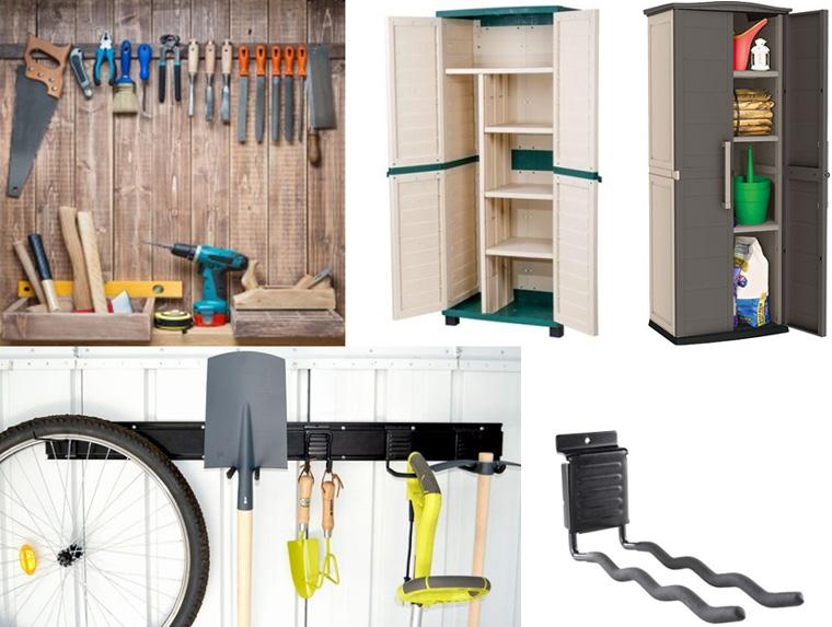 Фото. Шкафы и аксессуары для хранения инструментов в домиках
