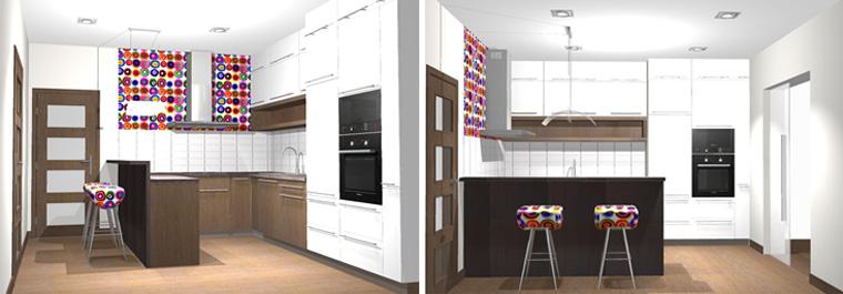Третий проект – кухня в форме буквы П